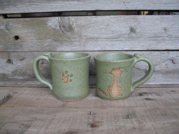 Kitty Coffee Mug from CabinPottery.com