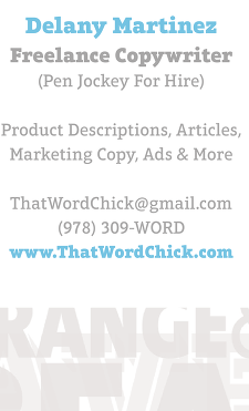 Contact info for Delany Martinez of ThatWordChick.com