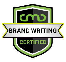 Completion badge for Justin Blackman's Brand Writing Course at the 2020 Content Marketing Conference.