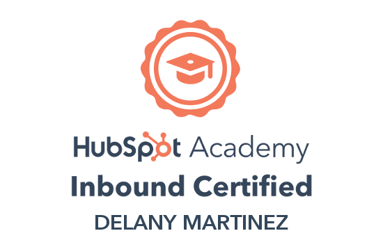 Hubspot 2020 Inbound Marketing Certification for Delany Martinez